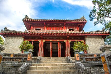 Imperial Minh Mang Tomb in Hue, Vietnam in a summer day 스톡 콘텐츠