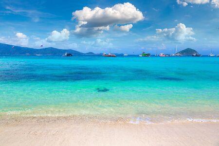 Coral (Ko He) island near Phuket island, Thailand in a summer day Reklamní fotografie