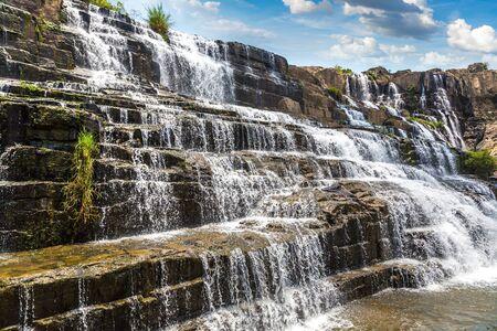 Pongour Waterfall near Dalat city, Vietnam in a summer day Reklamní fotografie
