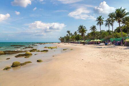 Hua Hin beach, Thailand in a beautiful summer day
