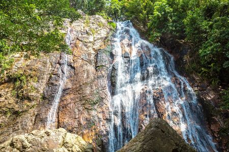 Namuang waterfall on Koh Samui island, Thailand in a summer day