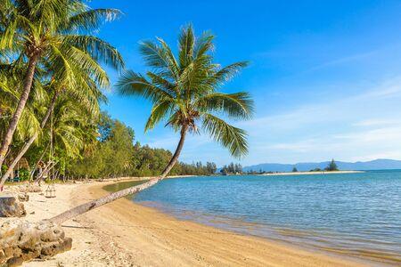 Beach on Koh Phangan island, Thailand in a summer day
