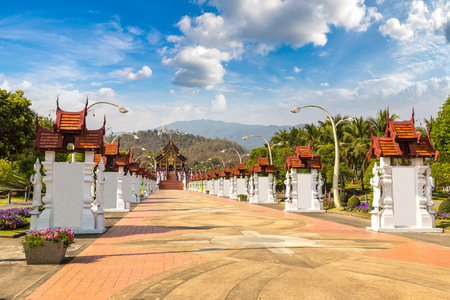 The Royal Ratchaphruek Park in Chiang Mai, Thailand in a summer day