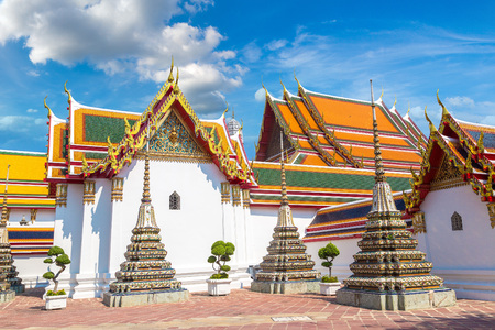 Wat Pho Temple in Bangkok in a summer day