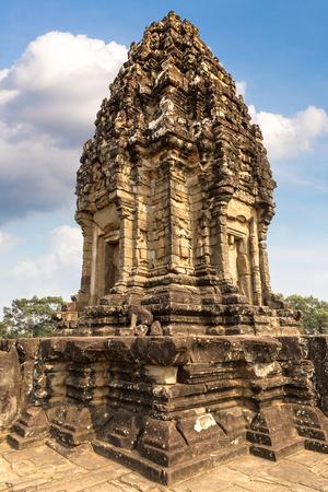 Bakong Prasat temple in complex Angkor Wat in Siem Reap, Cambodia in a summer day Redakční