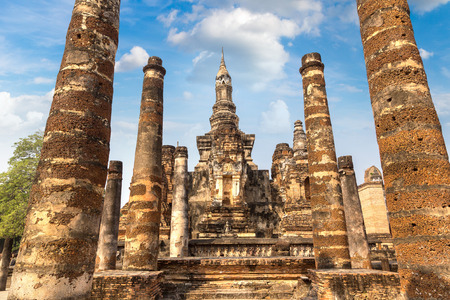 Sukhothai historical park, Thailand in a summer day Redakční