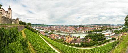 Panoramic aerial view of Wurzburg in a beautiful summer day, Germany Standard-Bild - 135044076