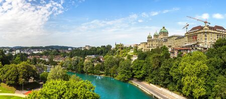 Federal palace of Switzerland in Bern in a beautiful summer day, Switzerland