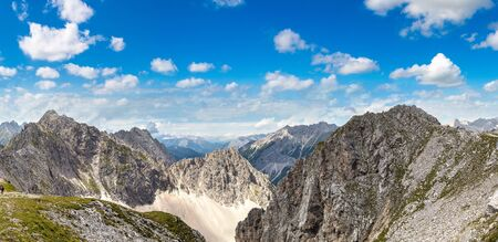 High mountain in Alps in a beautiful summer day