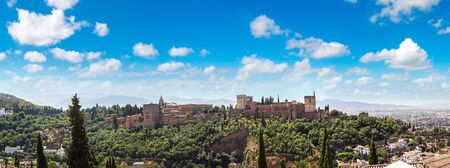 Arabic fortress of Alhambra in Granada in a beautiful summer day, Spain