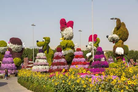 DUBAI, UNITED ARAB EMIRATES - JANUARY 31, 2020: Dubai miracle garden in a sunny day , United Arab Emirates