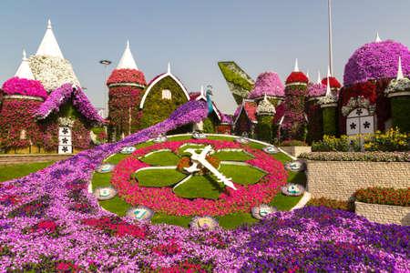 DUBAI, UNITED ARAB EMIRATES - JANUARY 31, 2020: Dubai miracle garden in a sunny day , United Arab Emirates Redakční