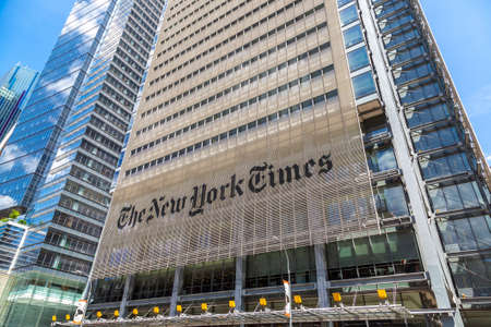 NEW YORK CITY, USA - MARCH 15, 2020: The New York Times Building in Manhattan, New York City, USA Editorial