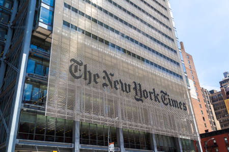 NEW YORK CITY, USA - MARCH 15, 2020: The New York Times Building in Manhattan, New York City, USA