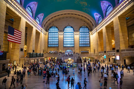 NEW YORK CITY, USA - MARCH 15, 2020: Main hall Grand Central Station Terminal in Manhattan in New York City, USA Editorial