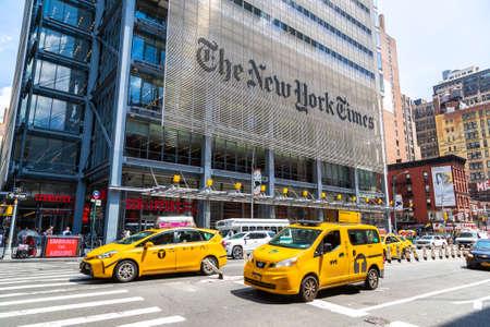 NEW YORK CITY, USA - MARCH 15, 2020: The New York Times Building in Manhattan, New York City, USA Redakční