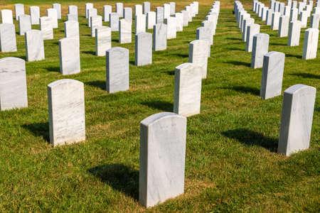 WASHINGTON DC, USA - MARCH 29, 2020: Arlington National Cemetery in Washington DC, USA