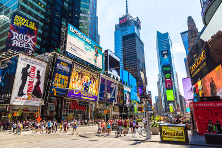 NEW YORK CITY, USA - MARCH 15, 2020: Times Square is a symbol of New York City, USA Editoriali