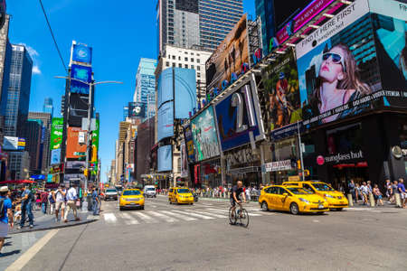 NEW YORK CITY, USA - MARCH 15, 2020: Times Square is a symbol of New York City, USA Editorial