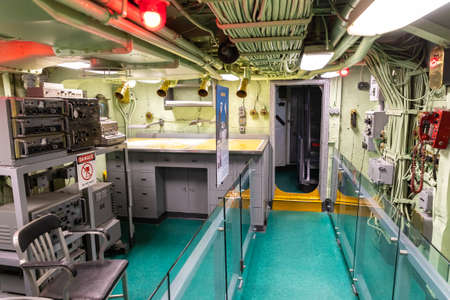 NEW YORK CITY, USA - MARCH 29, 2020: New York City's Intrepid Sea, Air & Space Museum Complex in New York City, NY, USA