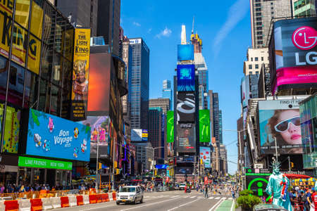 NEW YORK CITY, USA - MARCH 15, 2020: Times Square is a symbol of New York City, USA