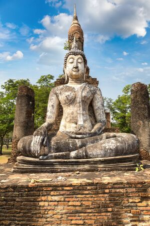 Traphang Ngoen Temple in Sukhothai historical park, Thailand in a summer day Stock fotó