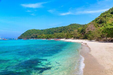 Coral (Ko He) island near Phuket island, Thailand in a summer day