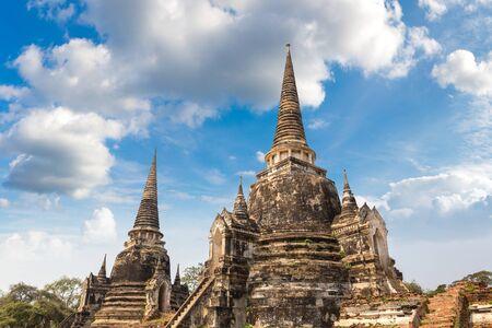 Ayutthaya Historical Park in Ayutthaya, Thailand in a summer day