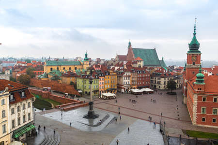 WARSAW, POLAND - JUNE 29, 2014: Panoramic view of Warsaw in a summer day n Poland Editorial