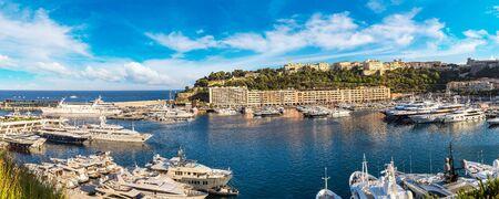 Luxury port Hercule in Monte Carlo in a beautiful summer day, Monaco