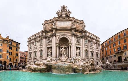 ROME, ITALY - DECEMBER 25, 2016: Fountain di Trevi in Rome, Italy in a winter day