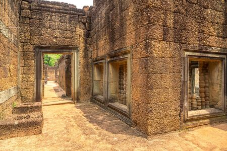 Banteay Samre temple in complex Angkor Wat in Siem Reap, Cambodia in a summer day