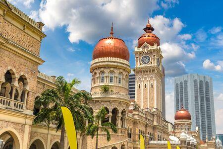 Sultan Abdul Samad building in Kuala Lumpur, Malaysia at summer day