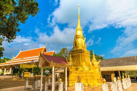 Red Temple - Wat Sila Ngu on Koh Samui island, Thailand in a summer day