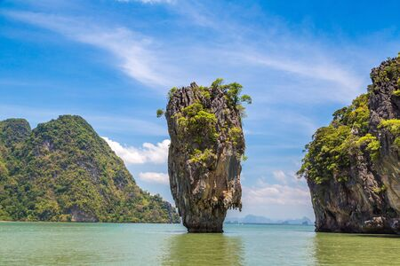 James Bond Island in Phang Nga bay, Thailand in a summer day