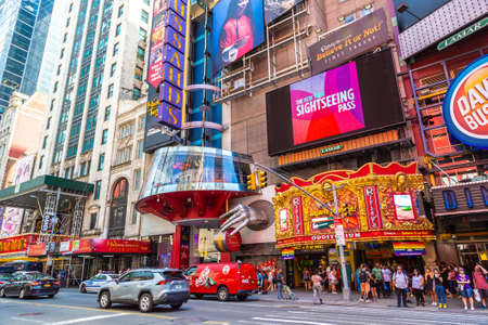 NEW YORK CITY, USA - MARCH 15, 2020: Madame Tussaud wax museum in New York City, USA