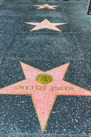 LOS ANGELES, HOLLYWOOD, USA - MARCH 29, 2020: Empty star on Hollywood Walk of Fame in Los Angeles, California, USA Editorial