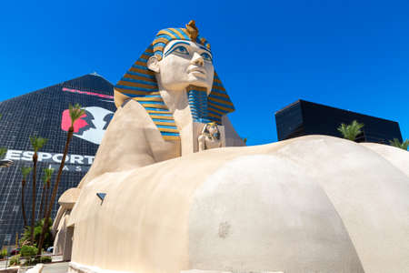 LAS VEGAS, USA - MARCH 29, 2020: Luxor Hotel and Casino in Las Vegas, Nevada, USA