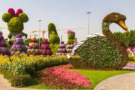 DUBAI, UNITED ARAB EMIRATES - JANUARY 31, 2020: Dubai miracle garden in a sunny day , United Arab Emirates Editoriali