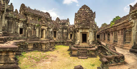 Panorama of Banteay Samre temple in complex Angkor Wat in Siem Reap, Cambodia in a summer day Standard-Bild