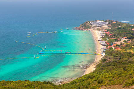 Panoramic aerial view of Koh Lan island, Thailand in a summer day Reklamní fotografie