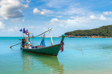 Fishing Boat on Koh Samui island, Thailand in a summer day