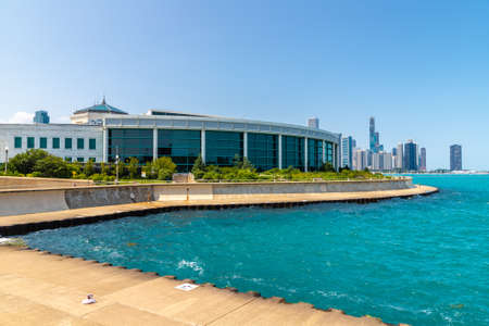 CHICAGO, USA - MARCH 29, 2020: Shedd Aquarium building in Chicago, Illinois, USA
