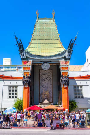 LOS ANGELES, HOLLYWOOD, USA - MARCH 29, 2020: Grauman's TCL Chinese Theatre on Hollywood Boulevard, Los Angeles, California, USA Redakční