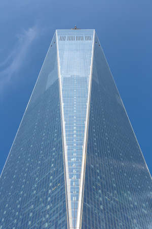 NEW YORK CITY, USA - MARCH 29, 2020: One World Trade Center tower in New York City, NY, USA
