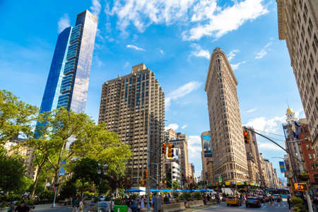NEW YORK CITY, USA - MARCH 15, 2020: Flatiron Building in New York City, USA