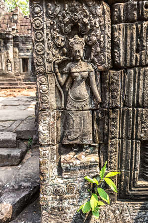 Banteay Kdei temple is Khmer ancient temple in complex Angkor Wat in Siem Reap, Cambodia in a summer day Banque d'images