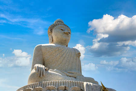 Big Buddha statue on Phuket in Thailand in a summer day Banque d'images