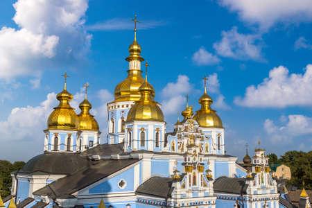 Saint Michael Orthodox Monastery in Kiev, Ukraine in a beautiful summer day