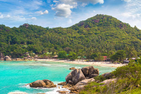 Silver Beach on Koh Samui island, Thailand in a summer day Banque d'images